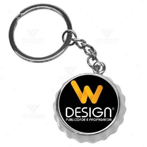 Chaveiro Tampinha Abridor de Garrafa - Logo personalizado