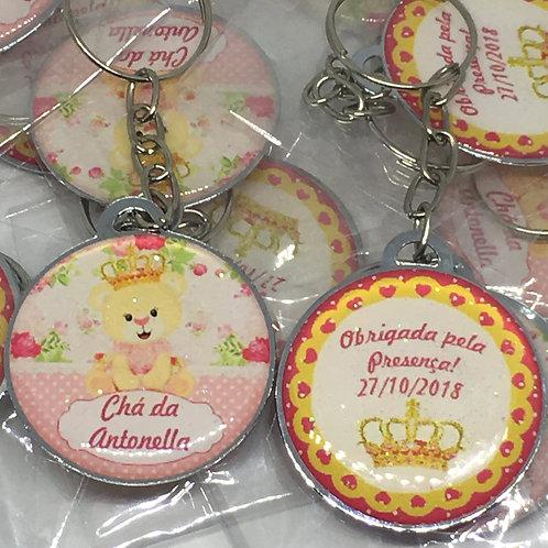 Chaveiro Ursinha Princesa