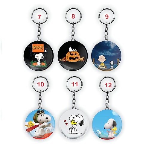 Chaveiro Redondo Snoopy