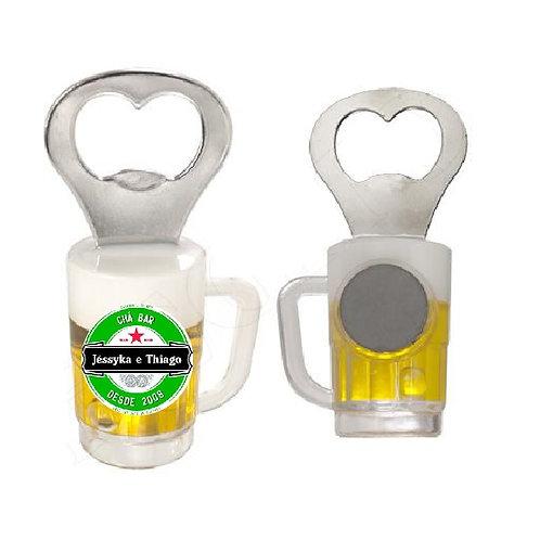 Abridor de garrafa com Imã de geladeira Caneca Chopp