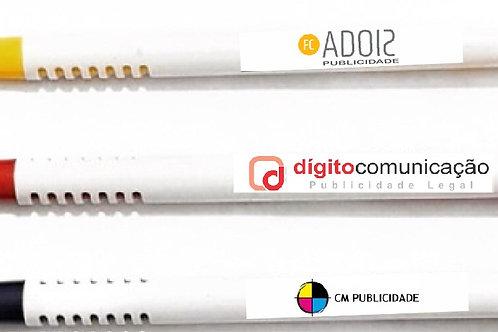 Caneta Personalizada Plástico Agência de Publicidade