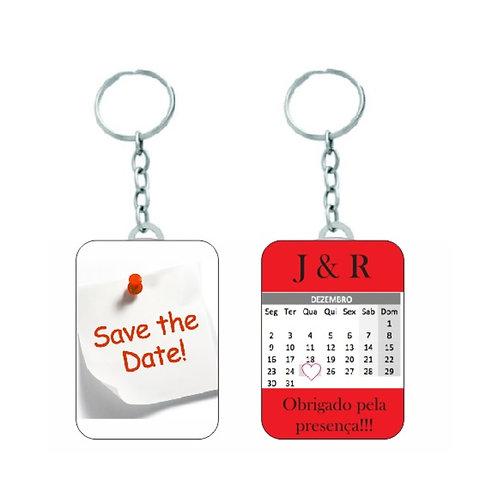Chaveiro Quadrado - Save The Date