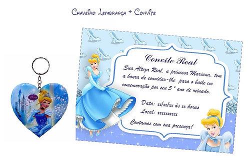 Chaveiro Lembrança + Convite Personalizado Grátis