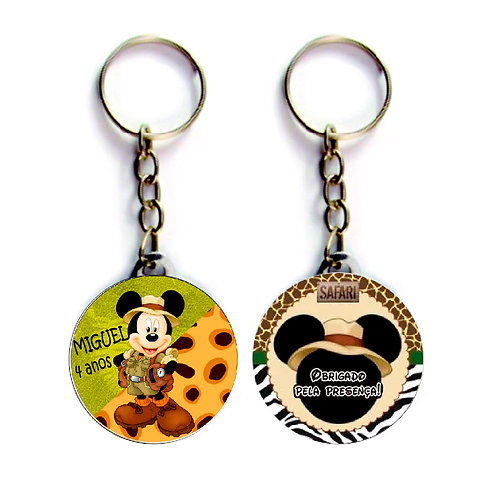 Chaveiro Mickey Safari