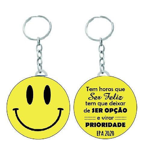 Chaveiro Redondo Smile Emoji