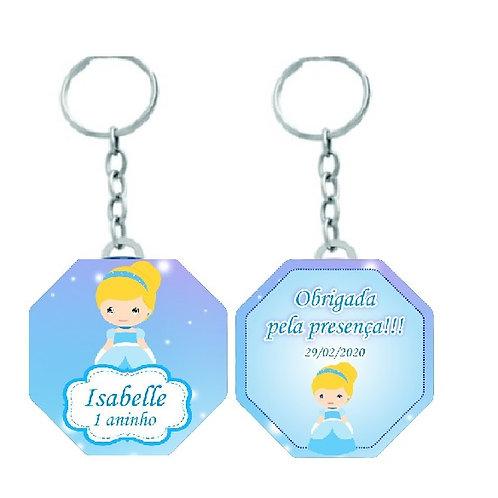 Chaveiro Octogonal Princesas Baby - Cinderela