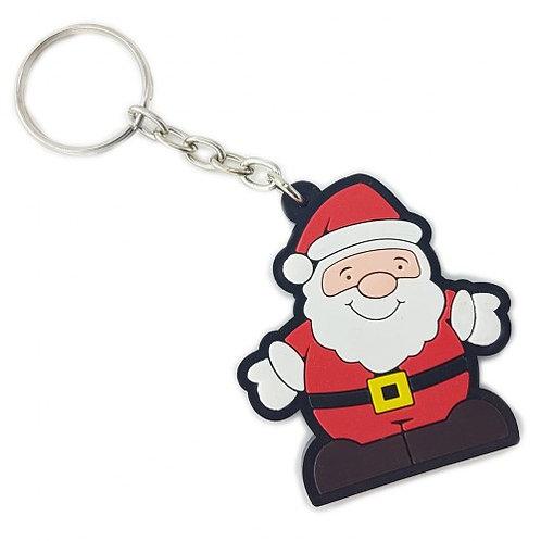 Chaveiro Emborrachado Papai Noel