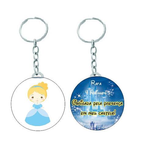 Chaveiro Redondo Princesas Baby - Cinderela