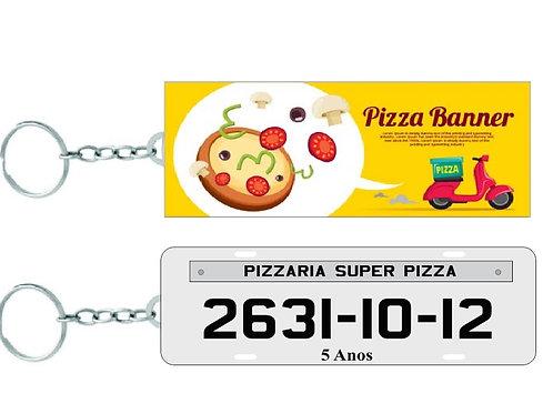 Chaveiro Retangular Personalizado para Pizzaria
