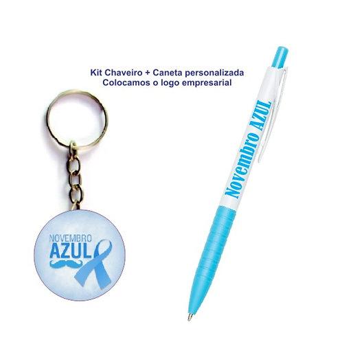 Kit Chaveiro + Caneta Especial Novembro Azul
