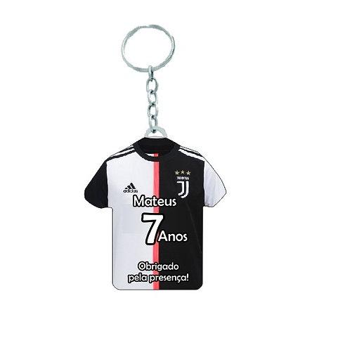 Chaveiro Camiseta Juventus Personalizada Aniversário