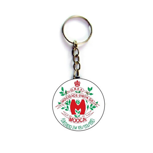 Chaveiro Redondo Personalizado - Escola de Samba