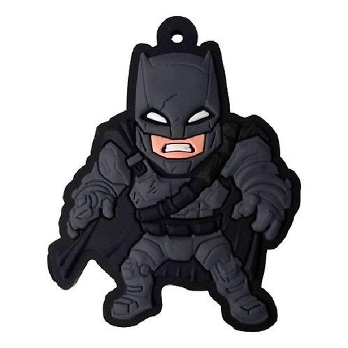 Chaveiro Emborrachado Batman Armadura (Acompanha Argola)