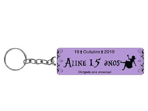 Chaveiro Personalizado - Alice no País das Maravilhas