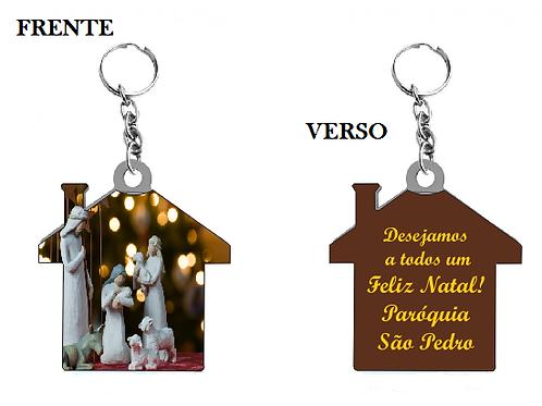 Chaveiro Casinha Natal Personalizado