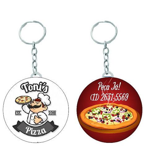 Chaveiro Redondo Brindes para Pizzaria