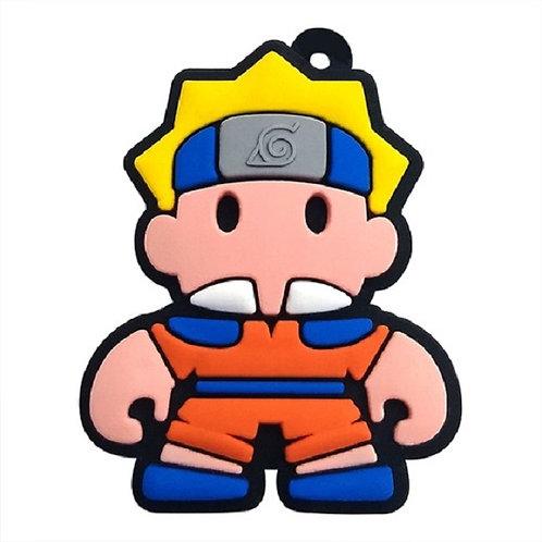 Chaveiro Emborrachado Naruto (Acompanha Argola)