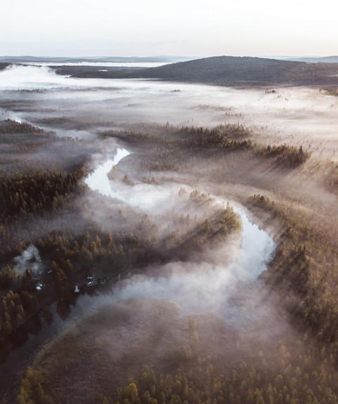 Fall fog in Lapland