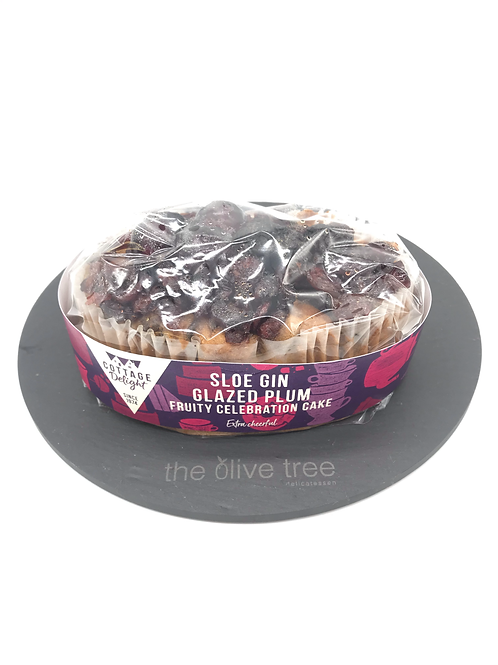 Sloe Gin Glazed Plum Fruit cake 500g