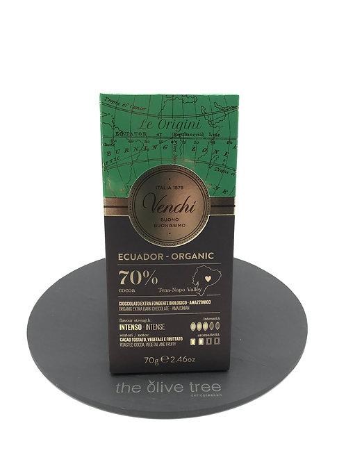 Organic Ecuador Dark Chocolate Bar 70%