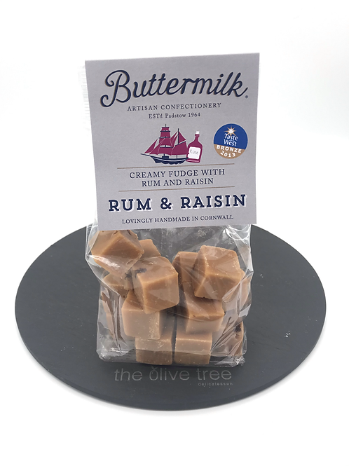 Buttermilk Rum & Raisin Fudge 175g