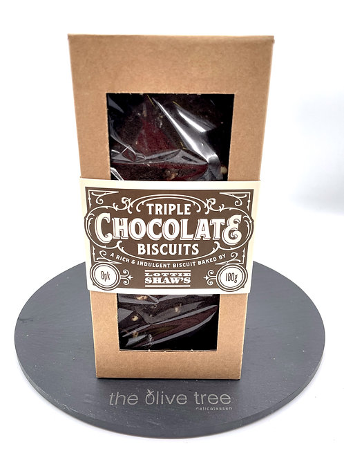 Lottie Sahw's Triple Chocolate Biscuits 180g