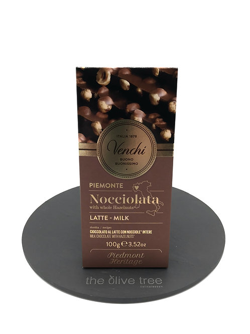 Venchi Milk Chocolate with Hazelnut Bar 100g