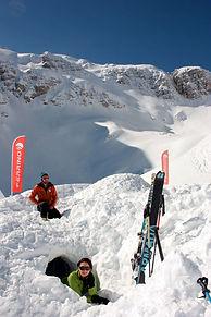 snow adventures in igloos in sella nevea near the gilberti freeride skiing