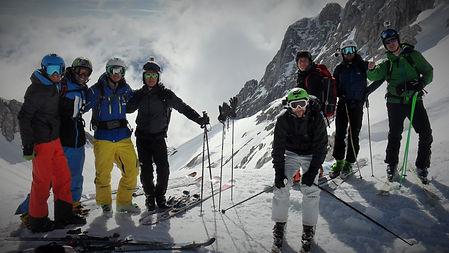 ready for the ski in ski bike rafting!