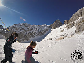 avalanche rescue training by the freeride kids