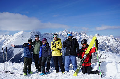 nice picture on top of the funifor of our freeride group
