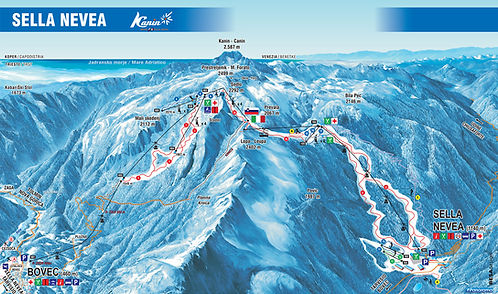 sella nevea bovec ski map promotur freeride map
