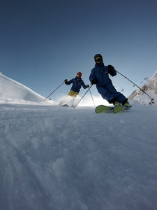 Prevala skiing in december 2018 with sella nevea mountain experience and scuola sci sella nevea, having a good time skiing on the lifts again.