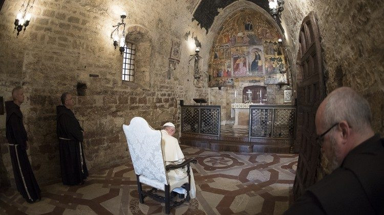 O Papa Francisco na Porciúncula