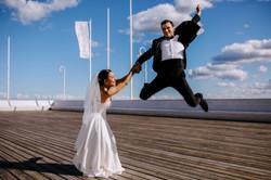 Sesja ślubna molo w Sopocie