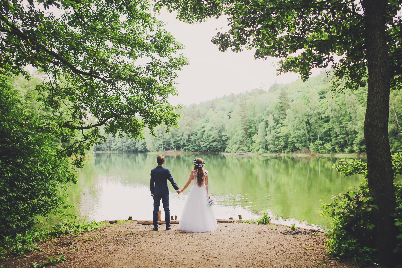 Sesja ślubna nad jeziorem Trójmiasto