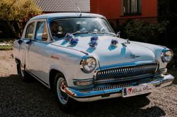 Błękitna wołga na ślub Trójmiasto