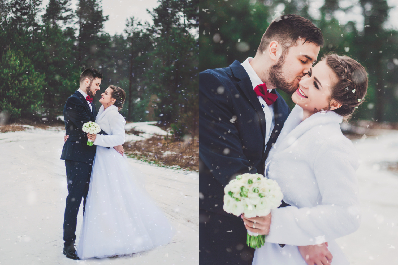 Zimowa sesja ślubna Trójmiasto