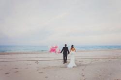 Sesja ślubna na klifie w Chłapowie.