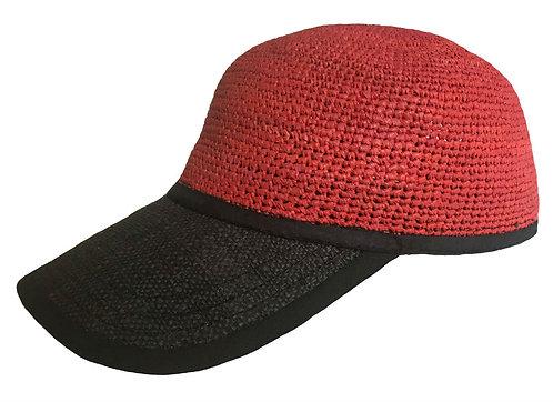 CAPRAFFIA Dark Red - Black Visor