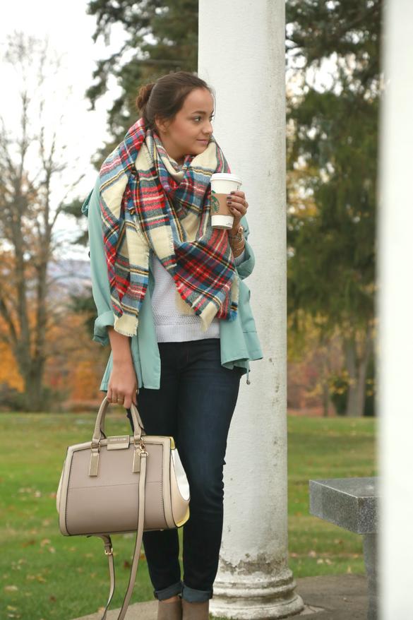 Blanket Scarves & Skinny Mochas