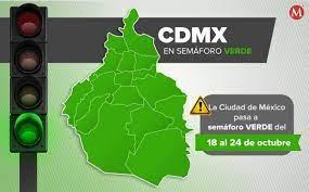 CdMx avanza a semáforo verde por covid-19; bares y cantinas operarán al 50%