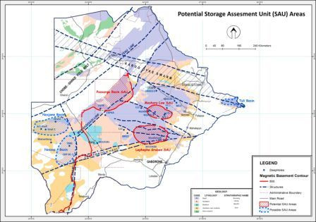 Botswana CO2 Storage Map