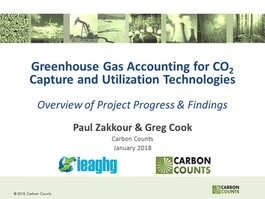 Overview and Report on GHG Accounting for Carbon Capture and Utilisation