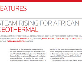 Steam rising for African Geothermal