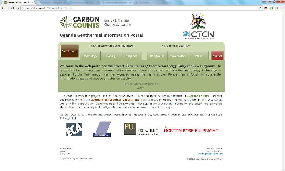 Uganda Geothermal Information Portal Home