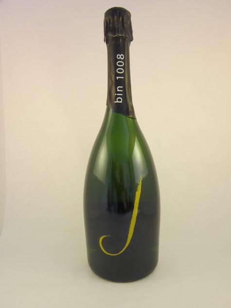 Glittered Champagne Bottle