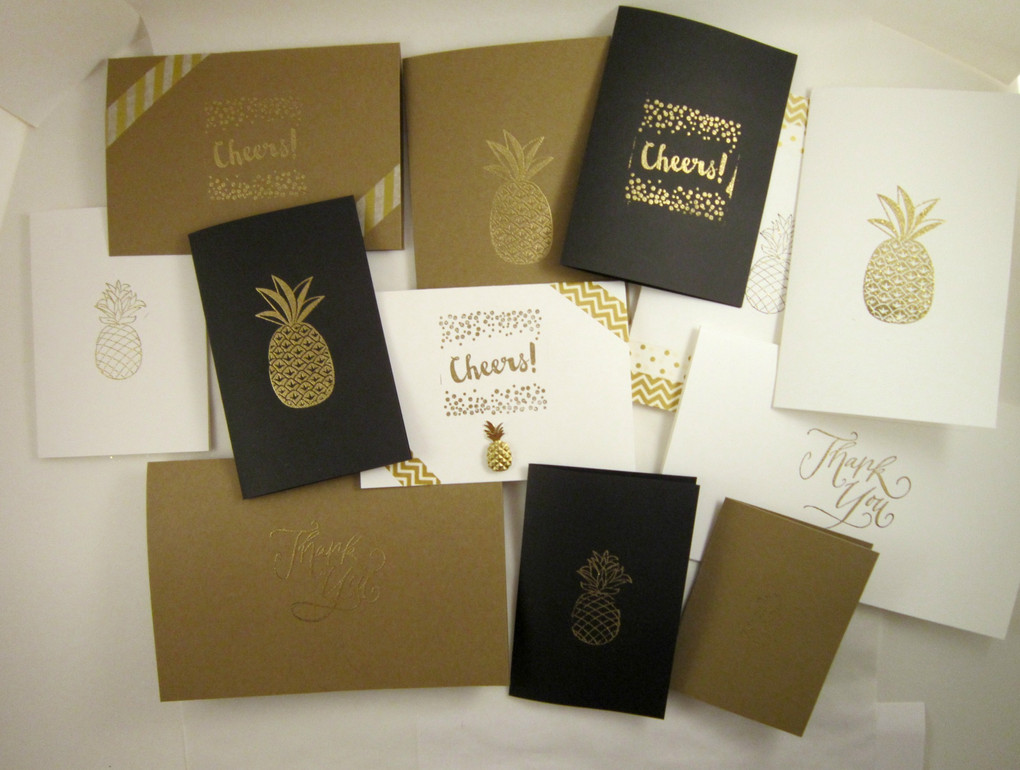 Pineapple Embossed Stationery