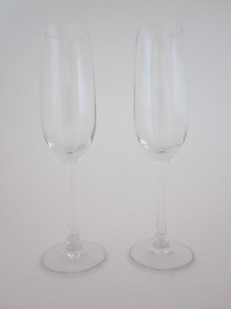 Glittered Champagne Flutes