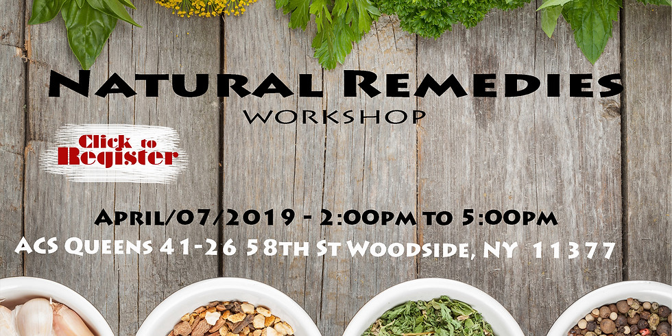 Natural Remedies Workshop